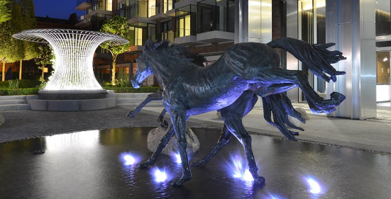 Goodmans filed horse sculpture by Hamish Mackie